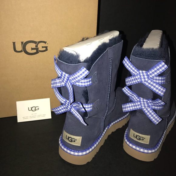7f1c3074fdc UGG Boots Bailey Blue Gingham Boutique